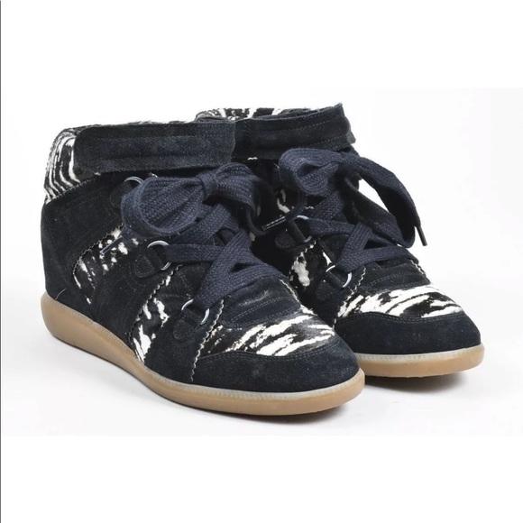 "Isabel Marant  Zebra ""bobby"" Wedge Sneakers"